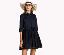 Hemdkleid mit Spitze und Bogenkante