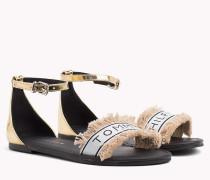 Metallic Sandale mit Spiegel-Effekt