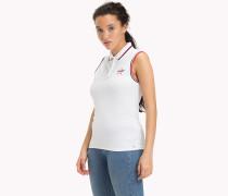 Ärmelloses Poloshirt aus Stretch-Baumwolle