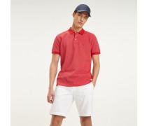 Baumwoll-Poloshirt mit Knöpfen mit Branding