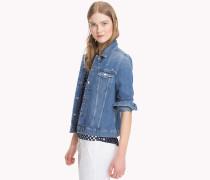 Jeansjacke mit aufgestickten Sternen