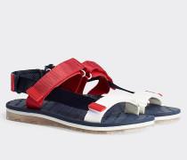 Color Block-Sandale mit transparentem Riemen