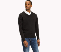 Sweatshirt mit V-Ausschnitt