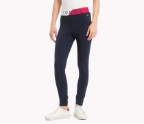 Leggings mit Taillenbund in Blockfarben
