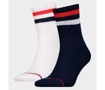 2er-Pack Socken mit Rippstrick-Bündchen