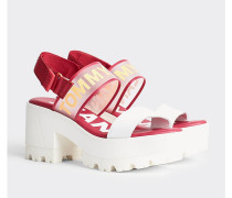 Mittelhohe Sandale mit transparentem Riemen