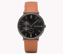 Brooklyn Armbanduhr in Cognac-Braun