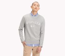 Slogan-Pullover mit Rundhalsausschnitt