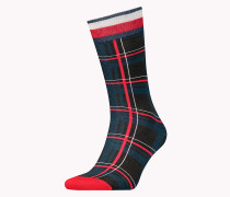 TH MEN PRINTED TARTAN SOCK 1P