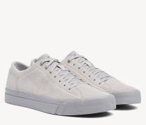 Einfarbiger Wildleder-Sneaker