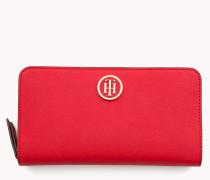 Brieftasche mit Reißverschluss und Logo