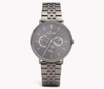 Dane Armbanduhr aus grauem Edelstahl