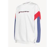 Sweatshirt in Blockfarben