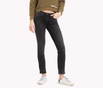 Skinny Stretch-Jeans mit niedriger Leibhöhe