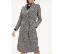 Mantel aus Wollmix mit Gürtel