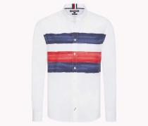 Hemd mit Wasserfarben-Streifen