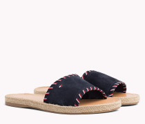 Wildleder-Sandale mit Tommy-Streifen