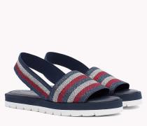 Gestreifte Slingback-Sandale