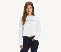 Langarm-T-Shirt mit Logomuster