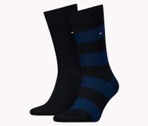 Rugby-Socken mit breiten Streifen im Doppelpack