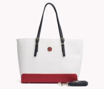 Mittelgroße Tote-Bag mit Kontrast-Detail