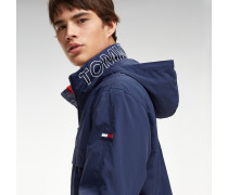Popover-Jacke mit Reißverschluss-Kragen