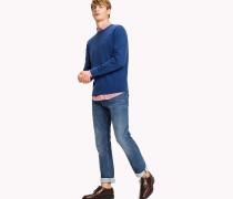 Pullover aus Baumwoll-Seidenmix mit Rundhalsausschnitt