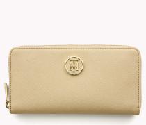 Monogramm-Brieftasche mit Reißverschluss