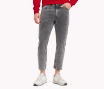 Relaxed Fit Cropped Jeans