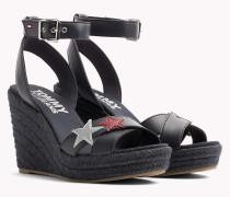 Sandale mit Keilabsatz und Stern-Badge