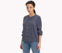 Schößchen-Bluse mit geometrischem Print