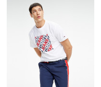 Logo-T-Shirt aus Baumwollmix