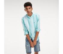 Baumwoll-Hemd mit Streifen