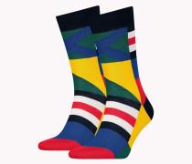 Einzelpack Socken mit Blockfarben-Print