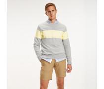 Baumwoll-Sweatshirt in Blockfarben