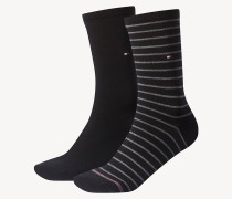 2er-Pack gestreifte Damensocken