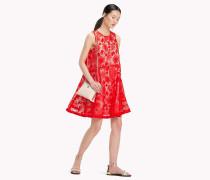 A-Linien-Kleid mit Blumenspitze