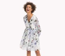 Tailliertes Chiffon-Kleid
