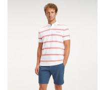 Baumwoll-Poloshirt mit Querstreifen
