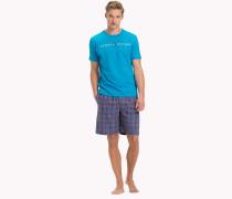 Pyjama-Set aus Baumwolle mit Shorts