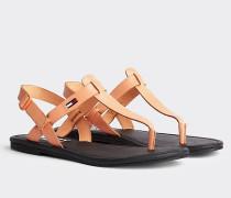 Color Block-Sandale aus Leder