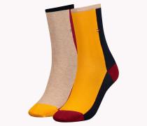Socken in Blockfarben im Doppelpack