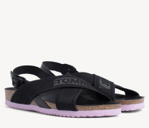 Slingback-Sandale mit Mesh