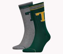 Monogramm-Logo-Socken im Doppelpack