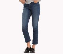 Straight Fit Jeans mit Krempelsaum