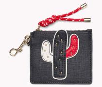Portemonnaie mit Kaktus-Applikation