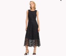 Midi-Kleid mit Blumenspitze
