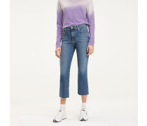 Cropped Flared Fit Jeans