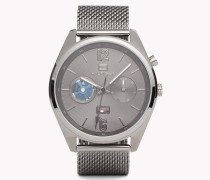 Deacan Armbanduhr aus grauem Edelstahl