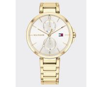 Vergoldete Chronograph-Armbanduhr